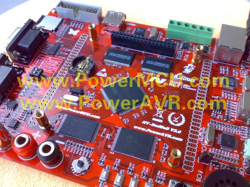 """新品推荐:强大的HY-RedBull V3(红牛三代)开发板最新上市!!! 以太网,USB HOST,MP3,2MB 超大SRAM,128MB NAND FLASH, NOR FLASH, 双路DSO. 3.5""""TFT.  主要特性:  2M字节SRAM,16M字节NOR Flash,128M字节NADN Flash  2M字节串行Flash,256字节串行EEPROM  板载 VS1003B 高性能MP3解码芯片,支持解码音乐格式包括MP3、WMA、WAV、MIDI、P-MIIDI,录音编码格式I"""